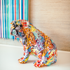 Graffiti Bulldog Sculpture