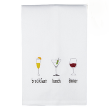 Load image into Gallery viewer, Breakfast Lunch & Dinner Dish Towel