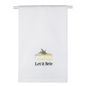 Let It Brie Dish Towel