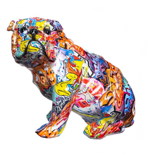 Load image into Gallery viewer, Graffiti Bulldog Sculpture