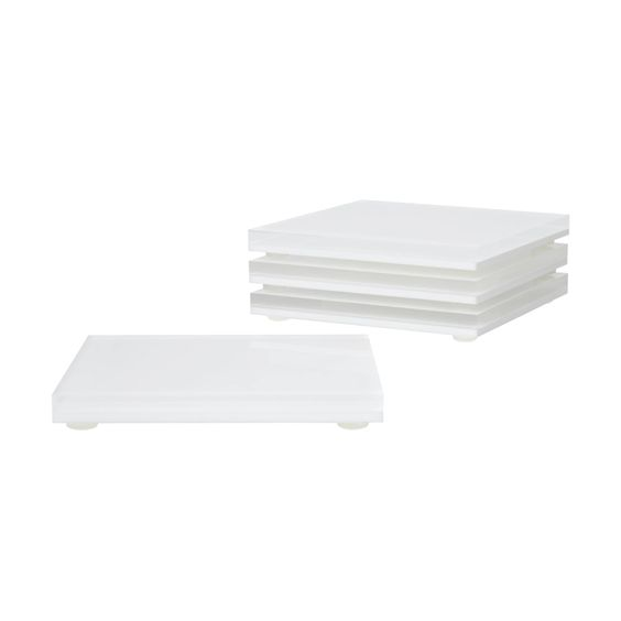 Hampton White Acrylic Coaster Set