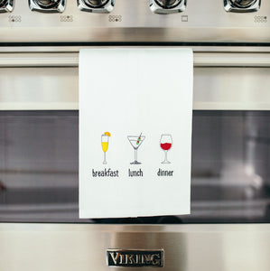 Breakfast Lunch & Dinner Dish Towel