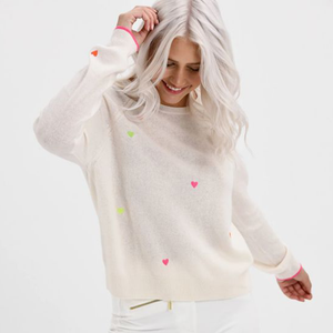 Pia Hearts Cashmere Sweater