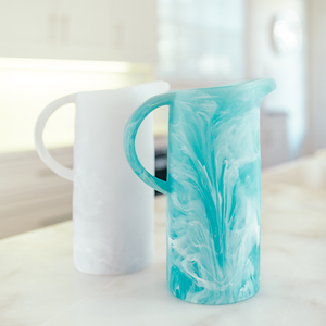 White Resin Pitcher