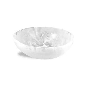 White Resin Wave Bowl