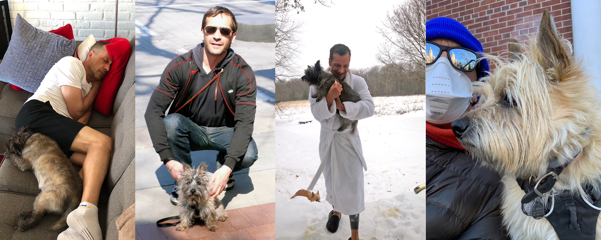 Images of Kevin Knapp with his dogs