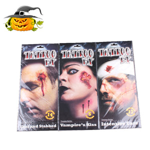 🎃Halloween zombie scar tattoo stickers