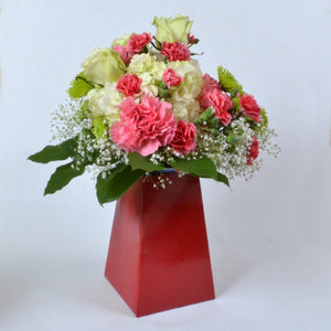 "Red 8"" FlowerBox Vase (Carton of 120)"