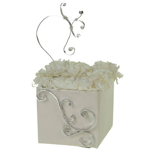 "White 5.5"" FlowerBox Vase (Carton of 120)"