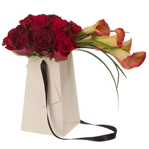 "Cream Grab & Go 8"" FlowerBox Vases (Carton of 120)"