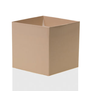 "Tan 4"" FlowerBox Vase (Carton of 120)"