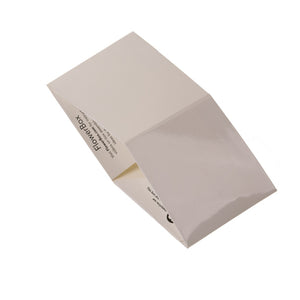 "White 4"" FlowerBox Vase (Carton of 120)"