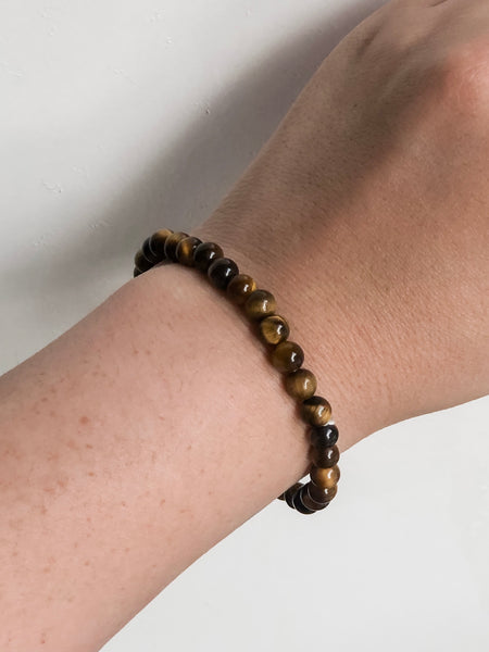 Tigers Eye Tumbled Bracelet