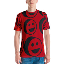 Load image into Gallery viewer, Red Smiles Over Print Men's T-shirt