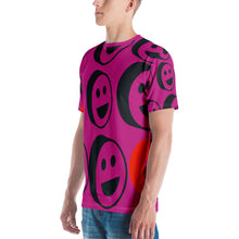 Load image into Gallery viewer, Pink Smiles All Over Print Men's T-shirt