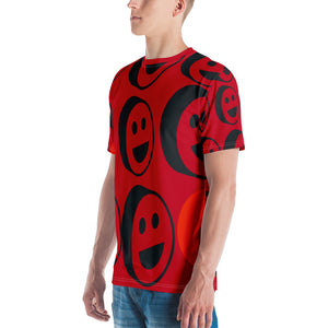 Red Smiles Over Print Men's T-shirt