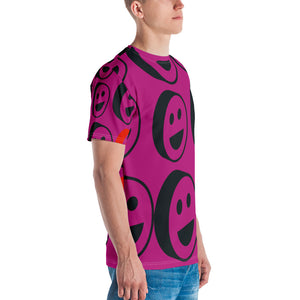 Pink Smiles All Over Print Men's T-shirt