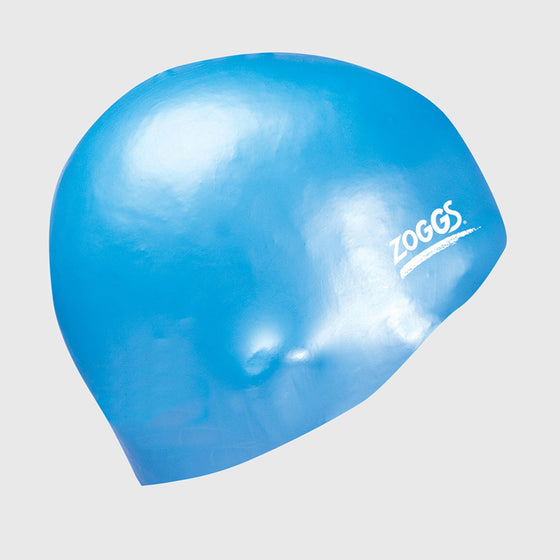 Zoggs Easy Fit Silicone Light Blue Swimming Cap