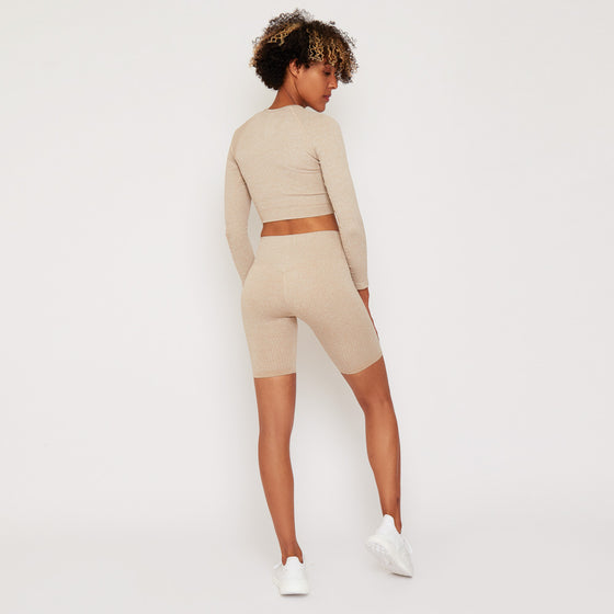 GymPro Lili seamless cycling shorts - Biscuit