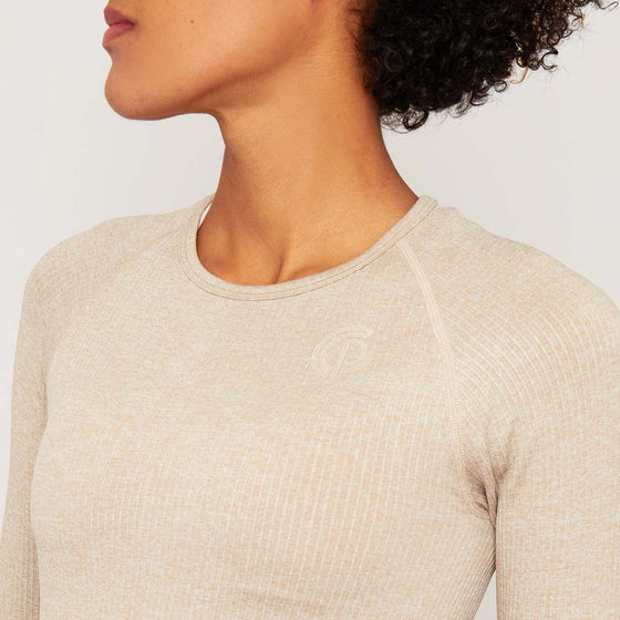 GymPro Lili seamless Crop Top - Biscuit