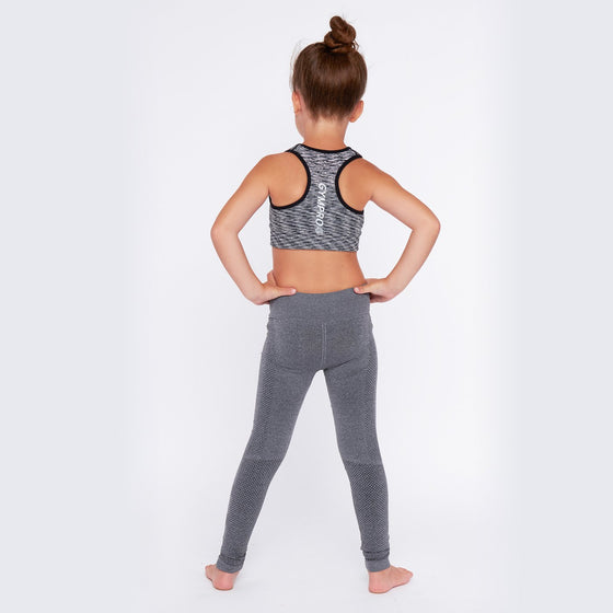 GymPro Children's Seamless Leggings- Grey
