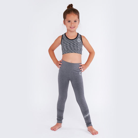 GymPro Children's Seamless Bra Top - Grey