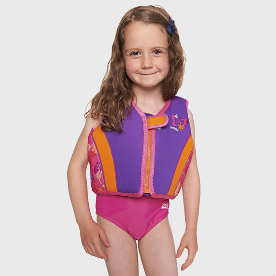 Zoggs Mermaid Swim Jacket Fixed Foam