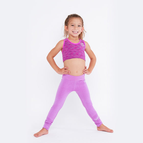 GymPro Children's Seamless Leggings- Pink