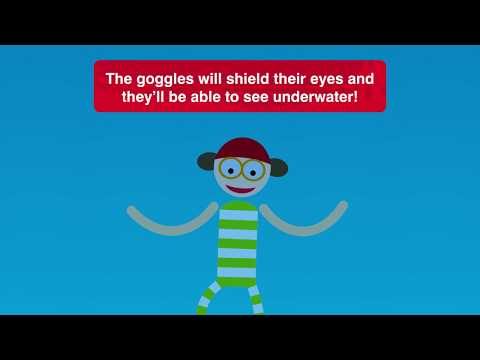 Zoggs Little Twist Tot's Goggle ( Various Colours)