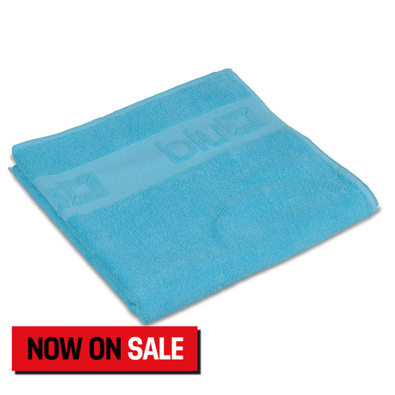 Shower Towel (Grey and Aqua)