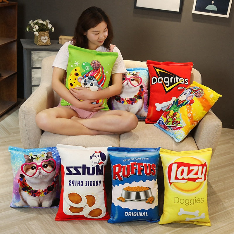 Joke Chip Bag Pillow Plushies
