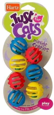 Hartz Just for Cats Midnight Crazies Cat Toy Balls - Assorted (2 Pack)