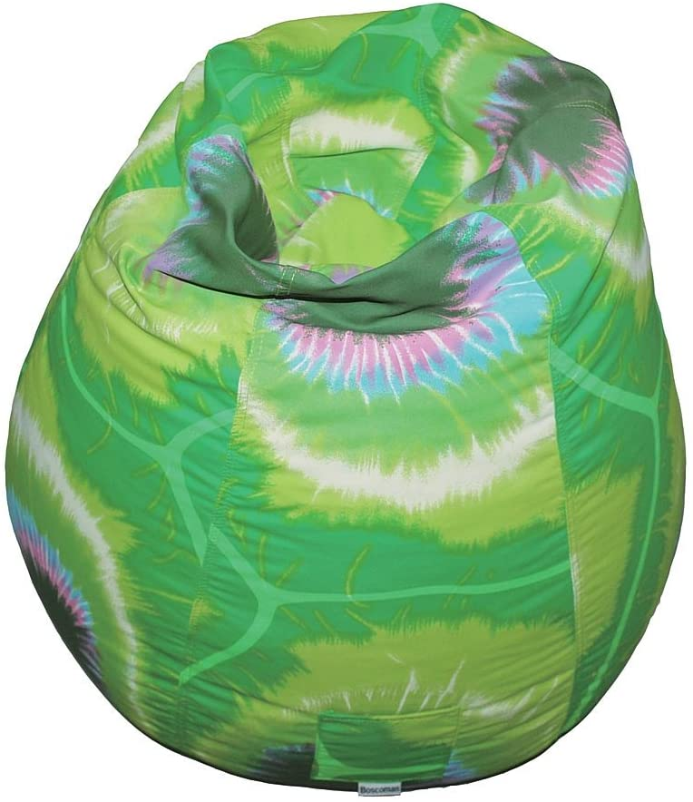 Boscoman - Teen Tie-dye Pearshape Beanbag Chair - Lime Green - COVER ONLY