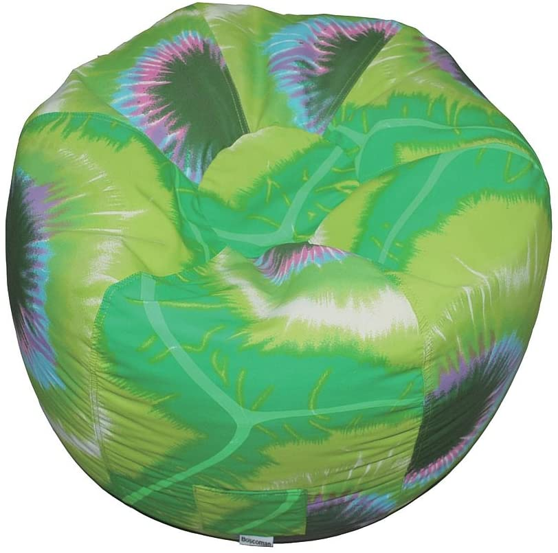 Boscoman - Teen Tie-dye Round Beanbag Chair - Lime Green - COVER ONLY