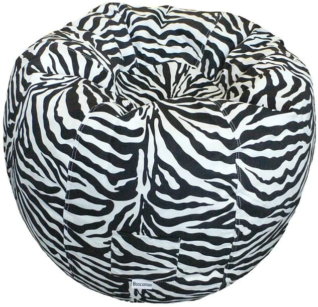 Boscoman - Adult Animal Zebra Beanbag Chair - COVER ONLY