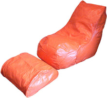 Charger l'image dans la galerie, Boscoman - Adult Vinyl Beanbag Lounger w/footrest Chair - (Mix Colors)