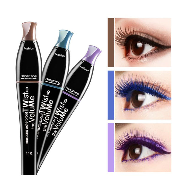 Color Waterproof Curling Thick Eyelash Mascara
