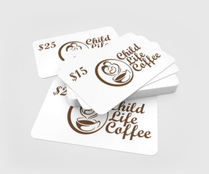 Child Life Coffee Gift Card | Child Life Coffee