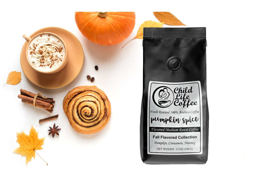 Pumpkin Spice Flavored Coffee | Child Life Coffee