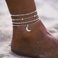 Load image into Gallery viewer, Rocking W/ Simplicity ©: Moon Collection Anklet