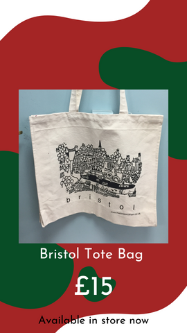 Bristol Lino Print Tote Bag by Melanie Wickham from Glass Designs & Gallery, Independent Gift Shop in Bristol