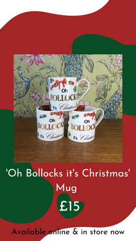'Oh Bollocks its Christmas' Mug by Stokes Croft China from Glass Designs & Gallery, Independent Gift Shop in Bristol