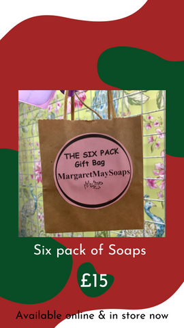Gift pack of 6 Handmade Soaps by Margaret May Soaps from Glass Designs & Gallery, Independent Gift Shop in Bristol