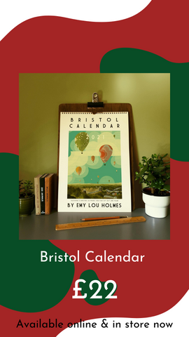 Bristol Calendar 2021 by Emy Lou Holmes from Glass Designs & Gallery, Independent Gift Shop in Bristol