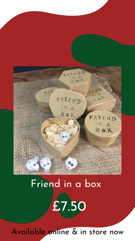 Friend in a Box Glass Animals by Sue Webb from Glass Designs & Gallery, Independent Gift Shop in Bristol
