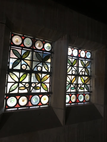 Intricate Stained Glass Window Panels