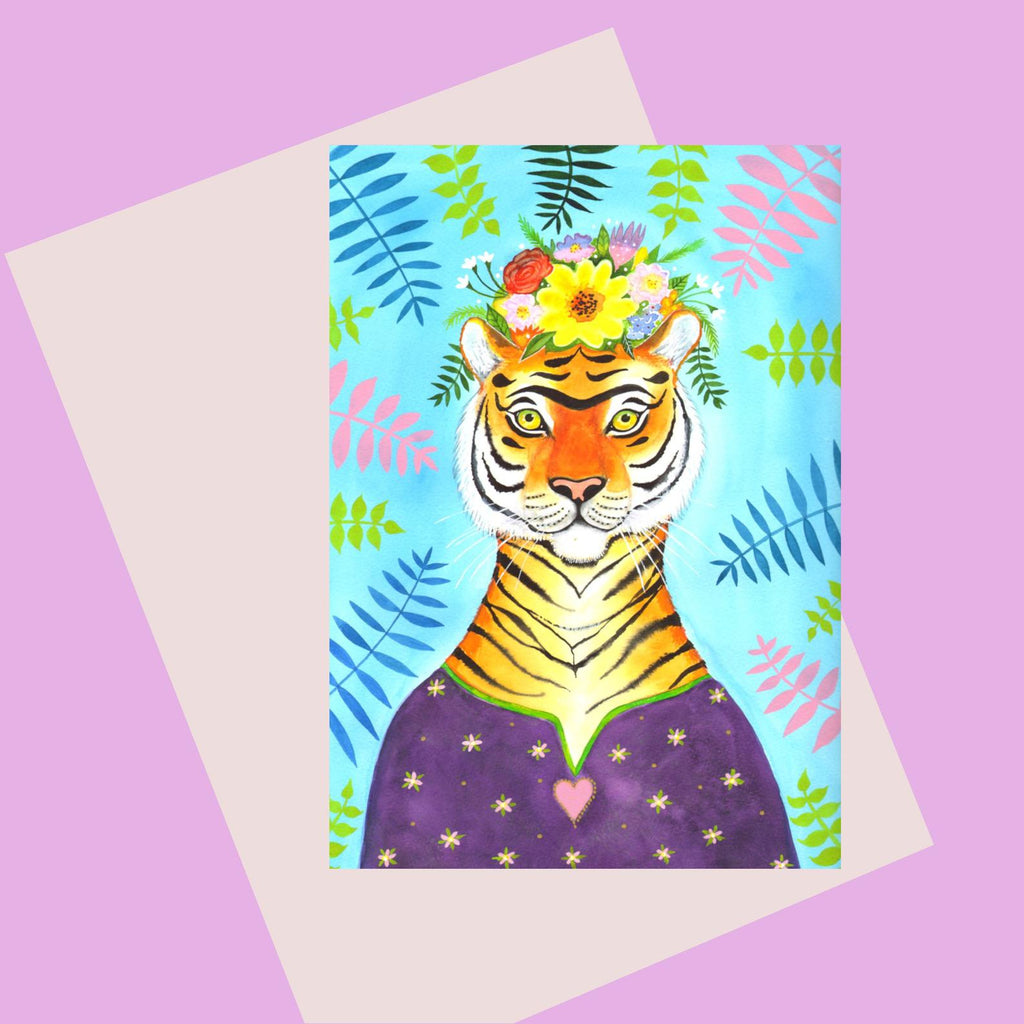 Laura Robertson Tiger Frida Card