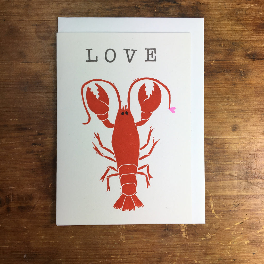 Laura Robertson Love Lobster Card