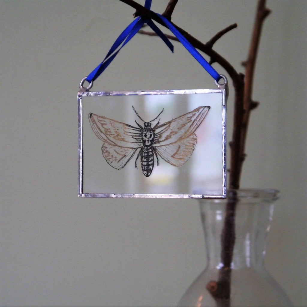 The Corbeau Press Moth With Skull Hanging