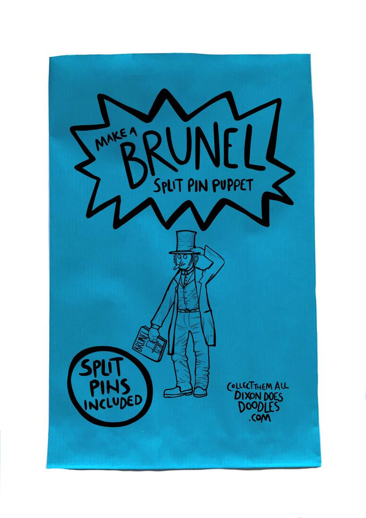 Glass Designs Dixon Does Doodles Make Your Own paper Brunel split pin puppet pack